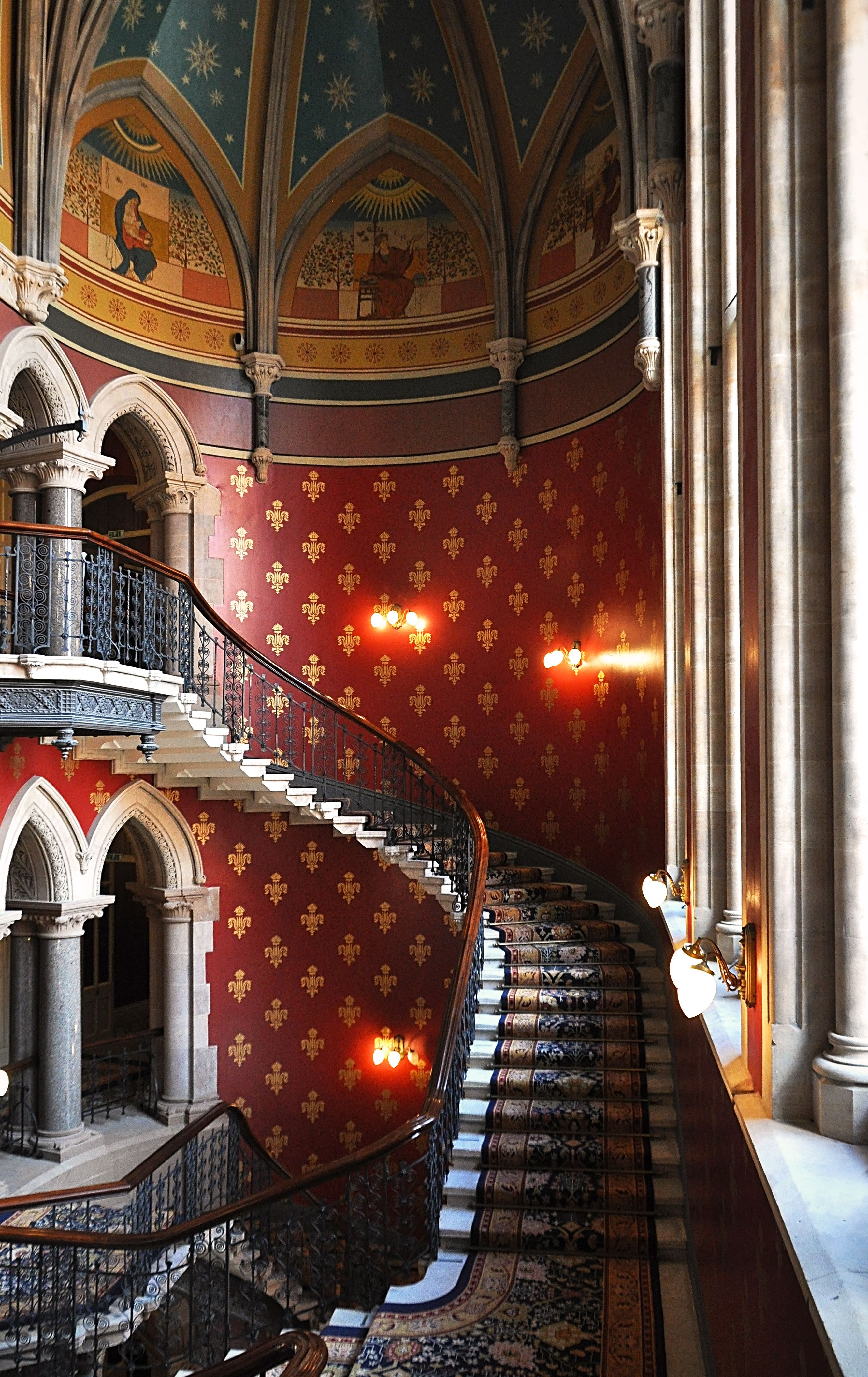 Staircase In The Newly Restored St Pancras Renaissance London