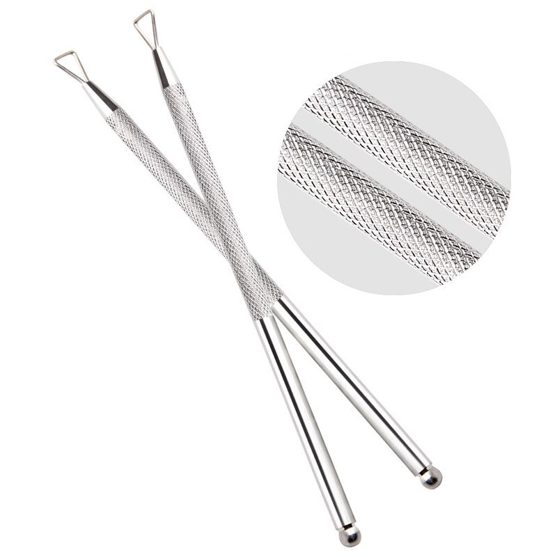 Dual End Stainless Steel Nail Art Cuticle Pusher Gel Polish Nails ...