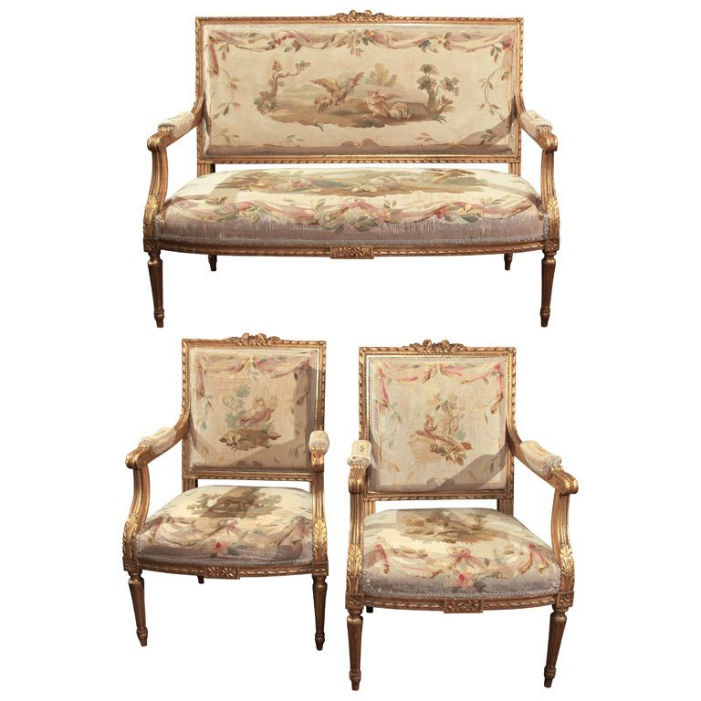 High Quality Louis XVI Style Salon Set | From A Unique Collection Of Antique And Modern  Living Room