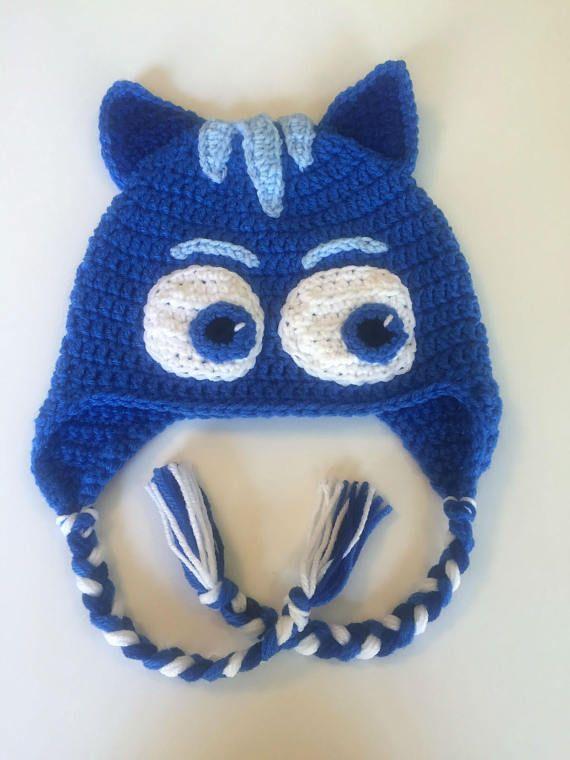 PJ Masks Catboy Hat, Crochet Earflap Hat, Catboy Costume | Kind
