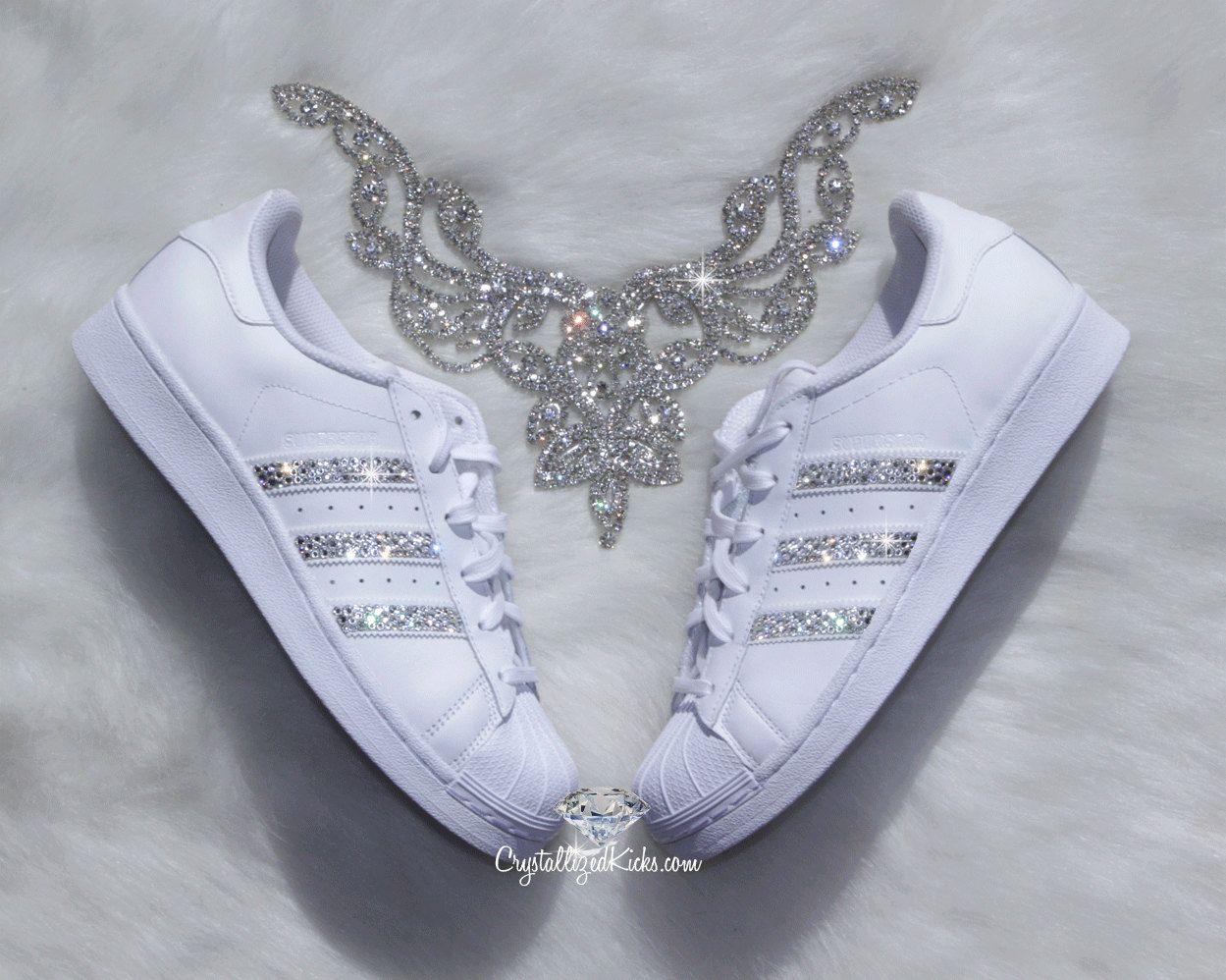 Mujeres Adidas Superstar Originale Fatto Con Cristales De Vestiti
