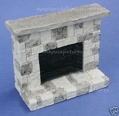 miniature dollhouse cut stone look fireplace new making minis how to pinterest haus. Black Bedroom Furniture Sets. Home Design Ideas