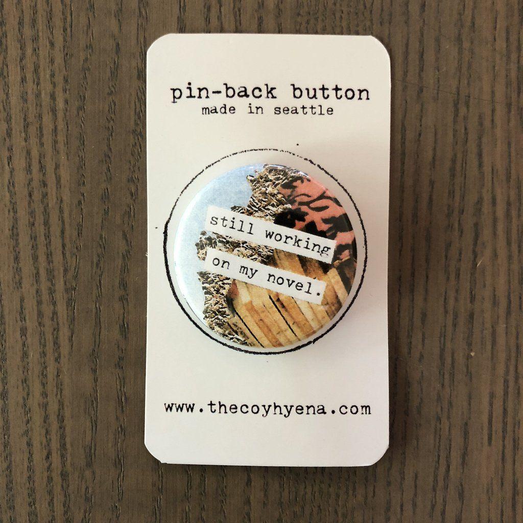 1.5 Pinback Button Badge Pin Hoot Neck Owl Demon Long Owl Button Set