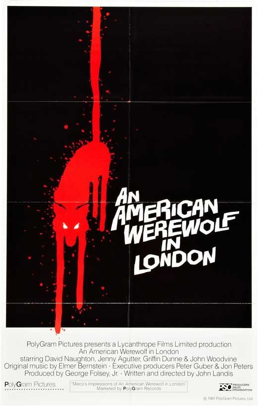 An American Werewolf In London 11x17 Movie Poster 1981 Lobo Americano Carteles De Peliculas Peliculas De Terror