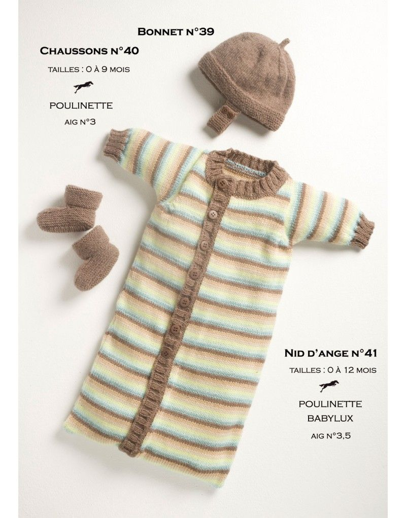 Model baby sleeping bag cb13-41 - free knitting pattern - Cheval bla ...