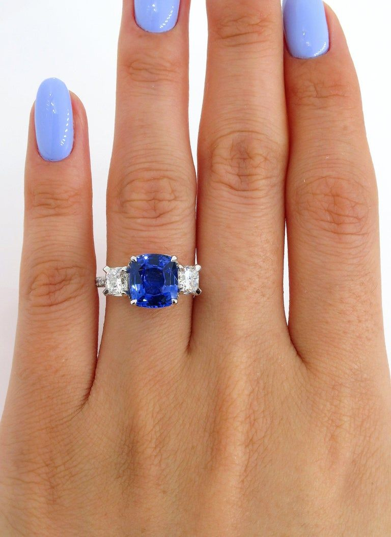 5.01ctw Ceylon GIA Natural Royal Blue Sapphire and