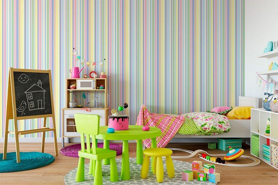Pareti a Righe per Camerette: 36 Coloratissime Idee ...