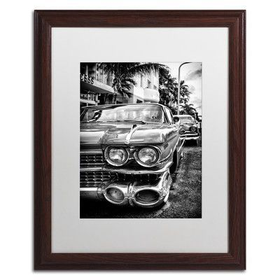 """Trademark Art """"Car Miami"""" by Philippe Hugonnard Framed Photographic Print Size:"""