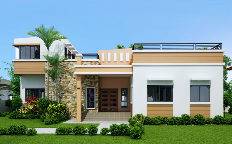 Specifications Beds 4 Baths 3 Floor Area 169 Sq M Lot Area 273 Sq M Elevated At 600 Mm Modern Bungalow House Single Floor House Design One Storey House