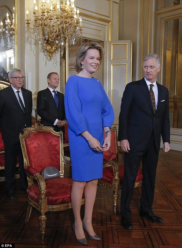 King Philippe and Queen Mathilde hosted the second New Year's reception at the Royal Palace on Jan. 25, 2017