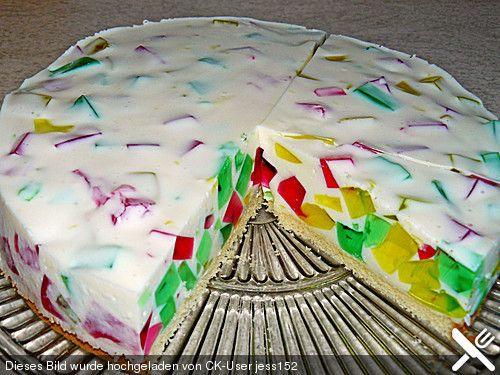 Bunte Gotterspeise Torte Torten Gotterspeise Kuchen Und Dessert