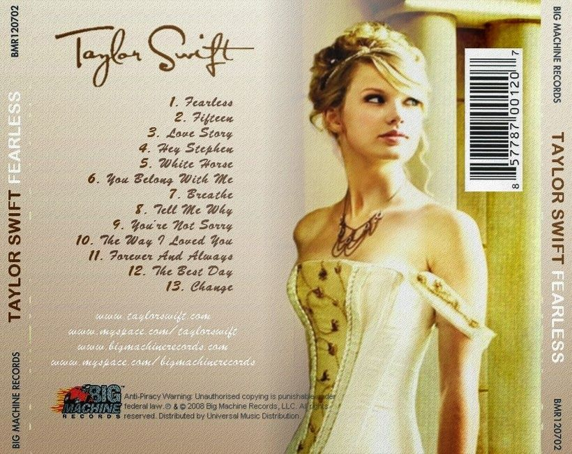 Taylor Swift 1898 Album Tracklist Taylor Swift Album