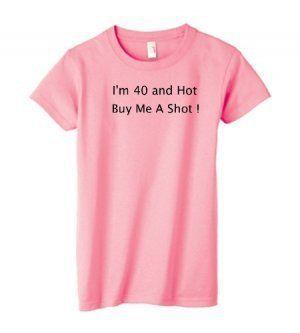 Womans 40 Th Birthday T Shirt