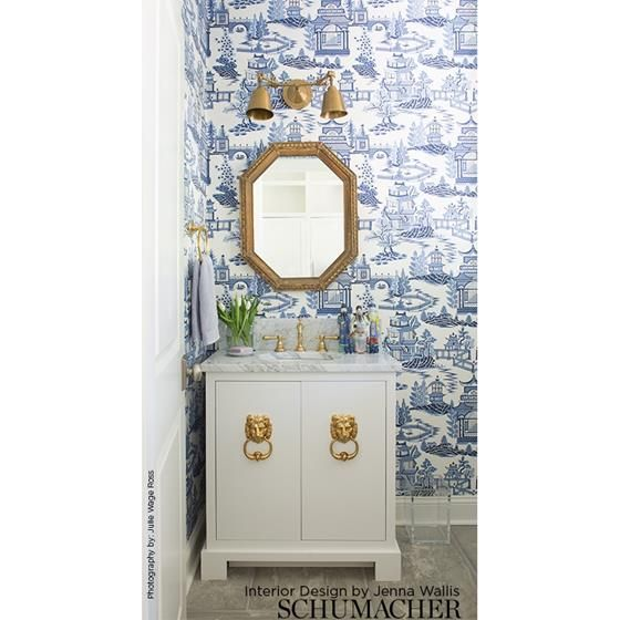 5006911 Nanjing, Porcelain Schumacher Wallpaper in