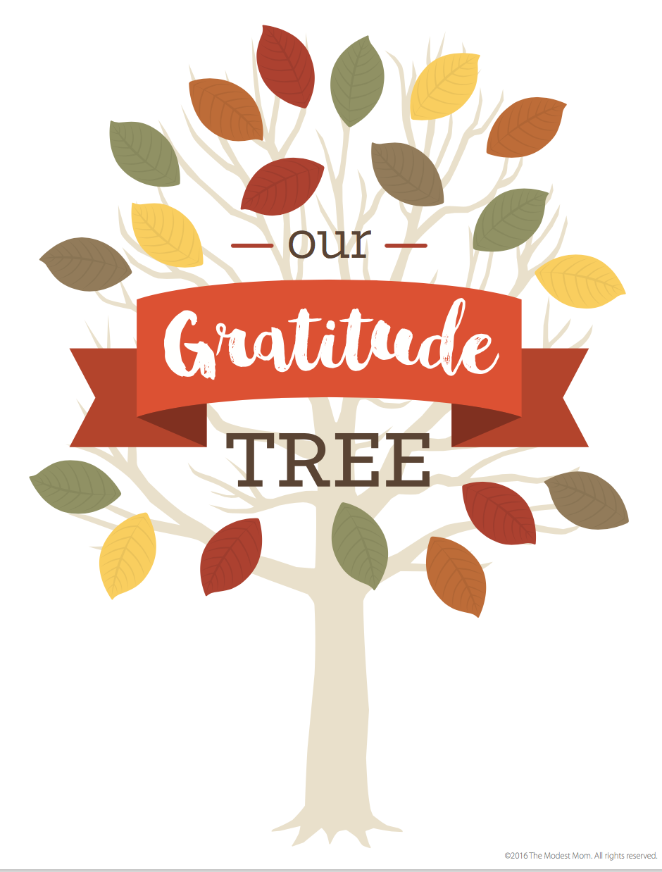 FREE Family Gratitude Tree Printable and Activity | Pinterest ...