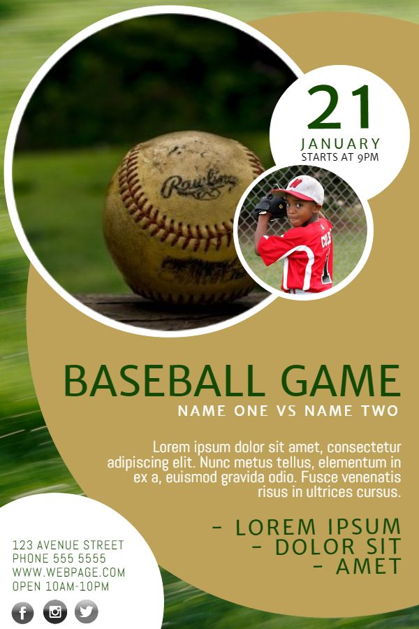 Baseball Poster Flyer or Ad by JulieFelton GraphicRiver