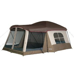 $119.00 Wenzel Klondike 16 X 11-Feet Eight-Person Family Cabin Dome Tent (Light Grey/Taupe/Red)