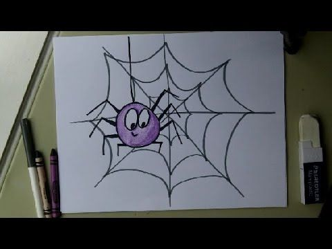Draw A Spider And Web Easy And Fun For Halloween Doodledrawart