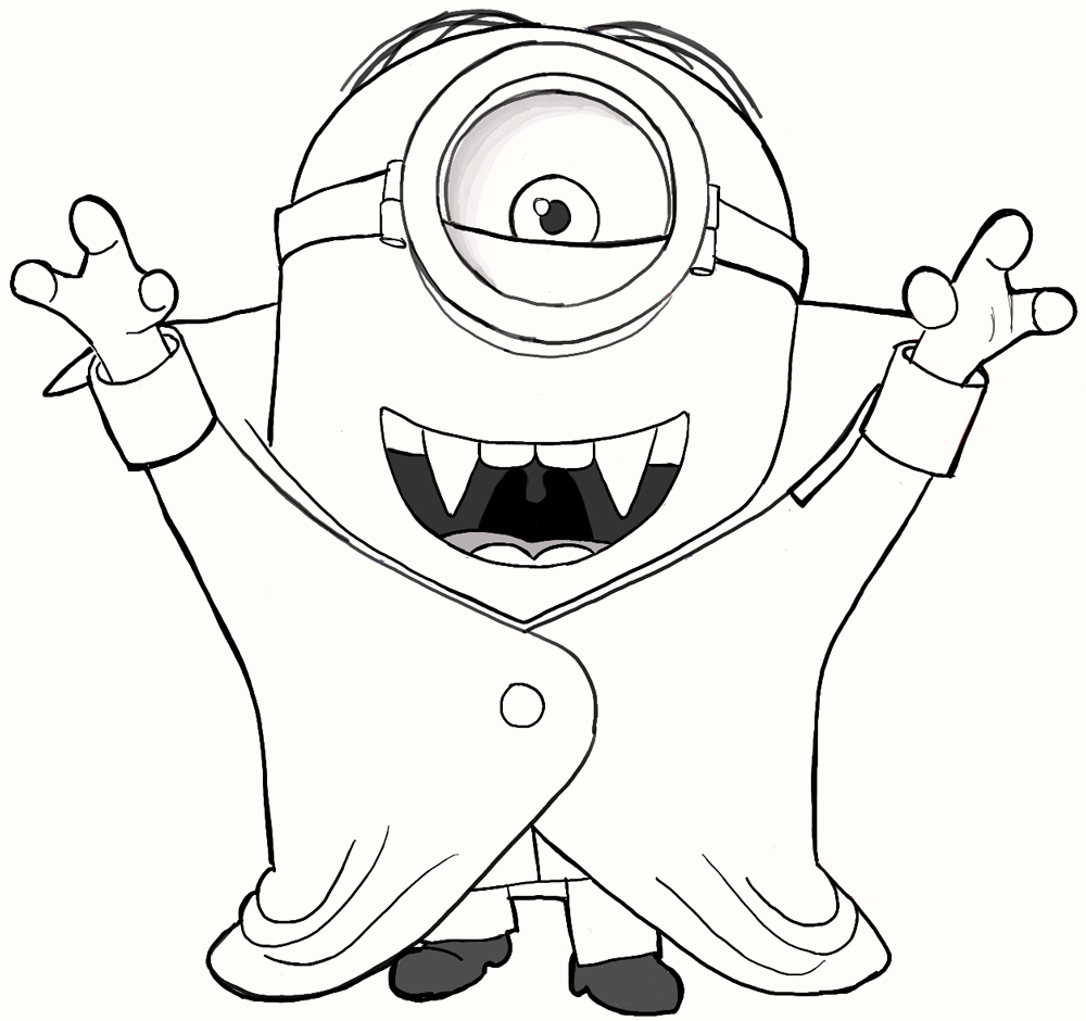 8 Cute Vampire Minions Coloring Pages Art Coloring Pages