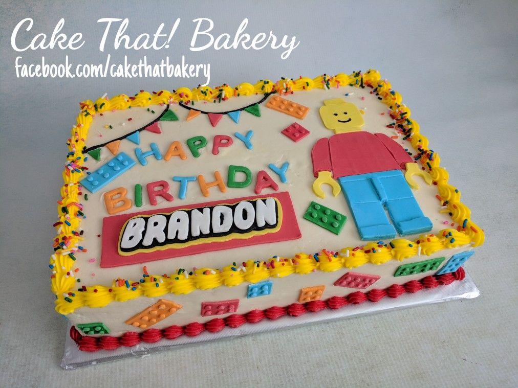 Enjoyable Lego Sheet Cake Lego Birthday Cake Lego Birthday Cake Personalised Birthday Cards Cominlily Jamesorg