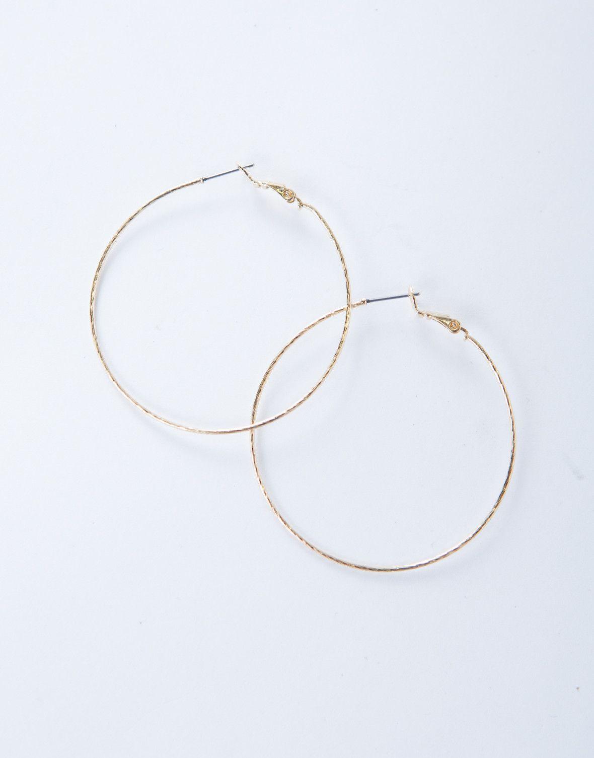 Shiny Hoop Earrings   Metallic, Metals and Holidays