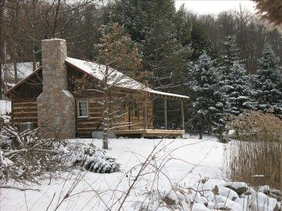 Winter at The Back Woods Cabin.