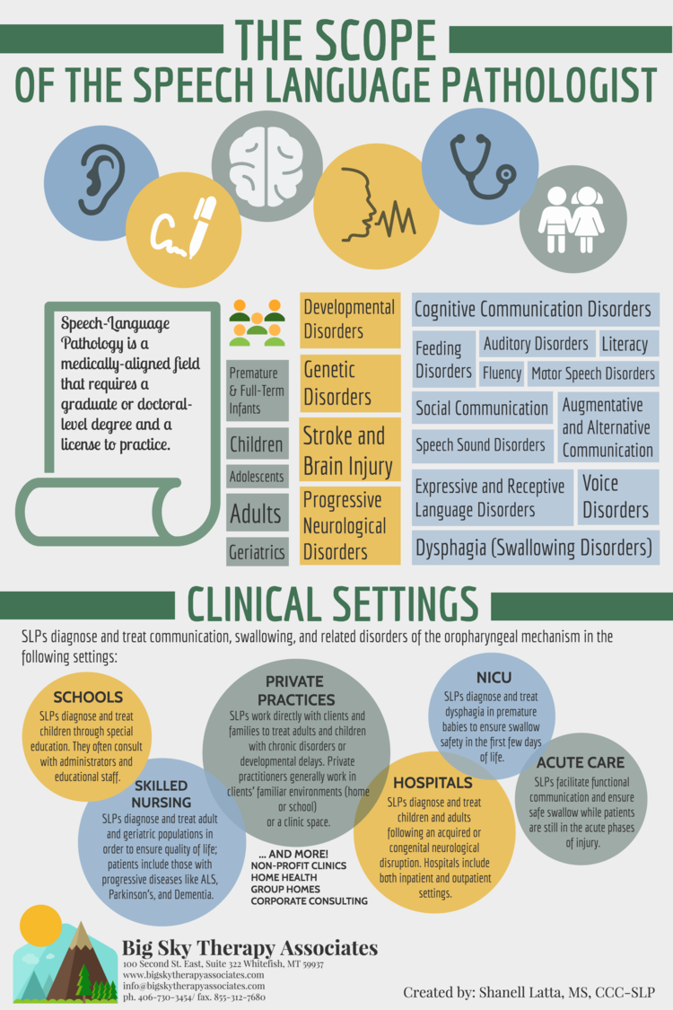 The Scope of the Speech-Language Pathologist || includes ...
