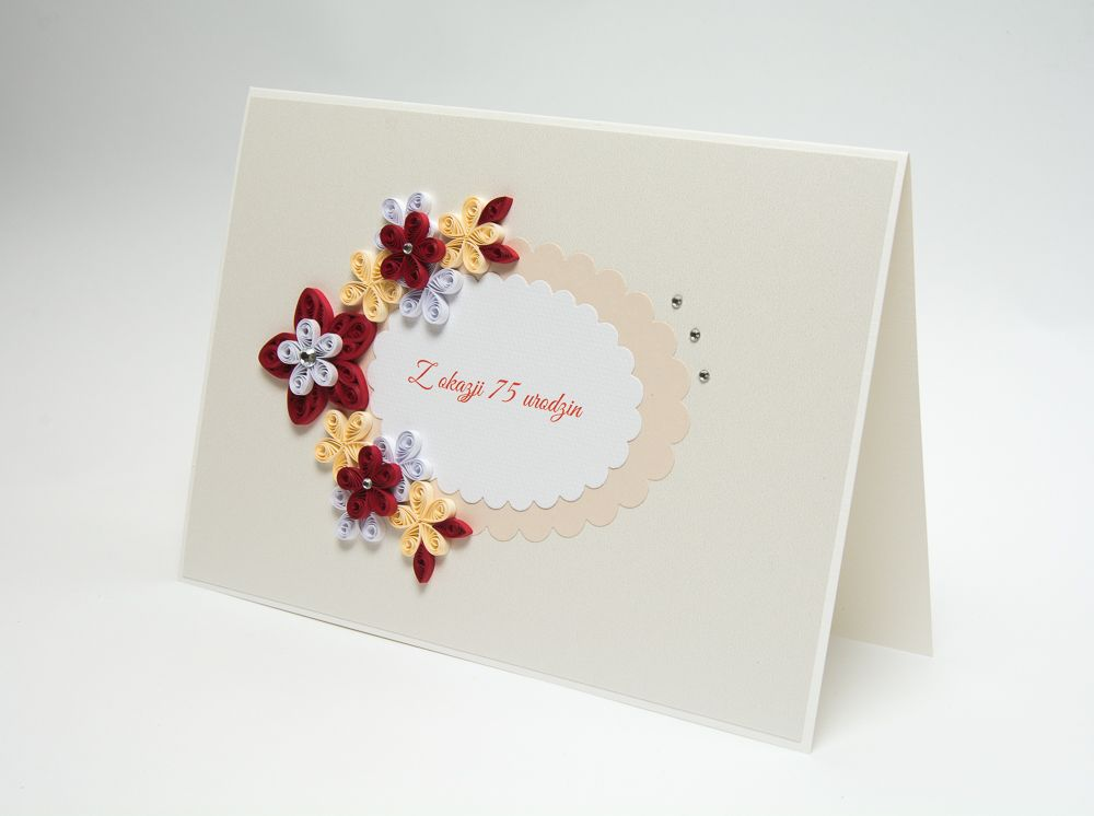 Elegant Unique Handmade 75th Birthday Card Custom Personalized Etsy