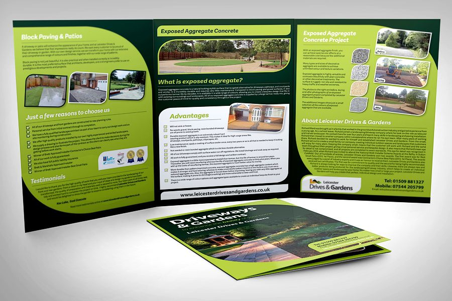 Landscaping Brochure Design Leicester Drives  Gardens  After Hours