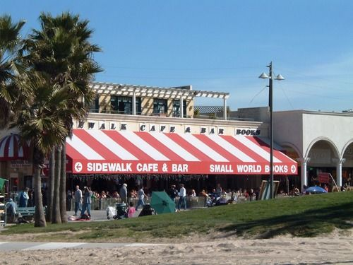 Sidewalk Cafe Venice Beach...Stevi and my first stop in
