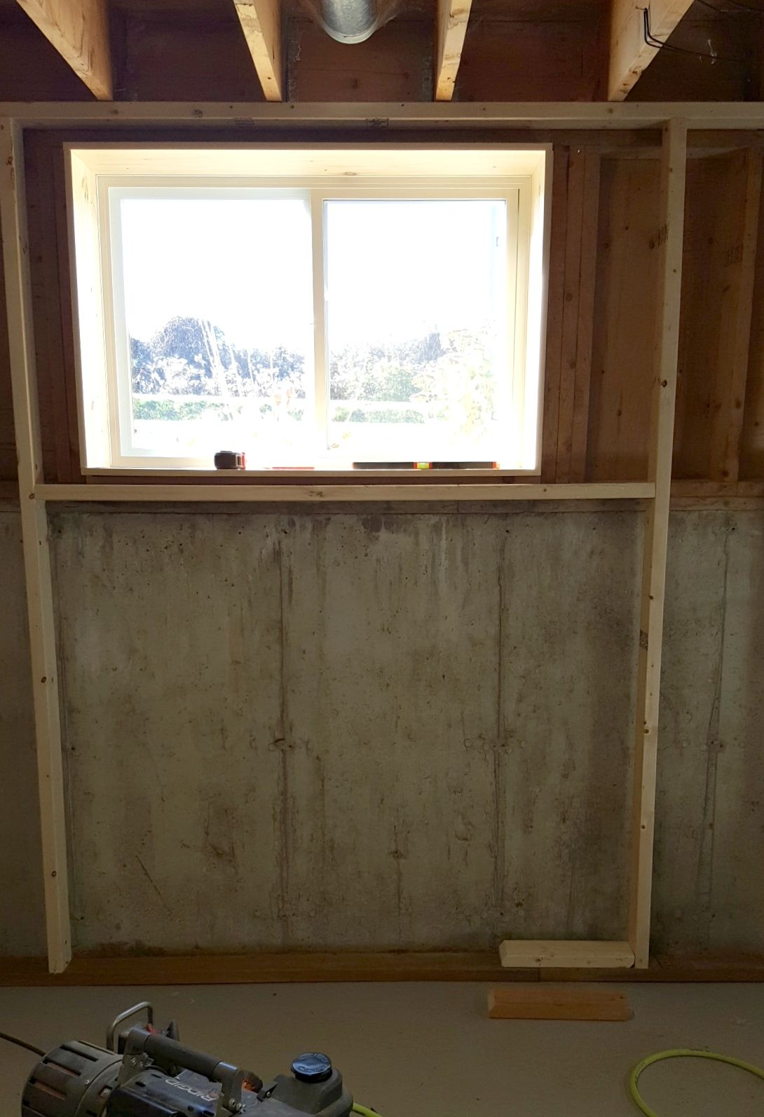 Recent Framing Around Basement Window Frames On Wall Basement Windows Basement Walls