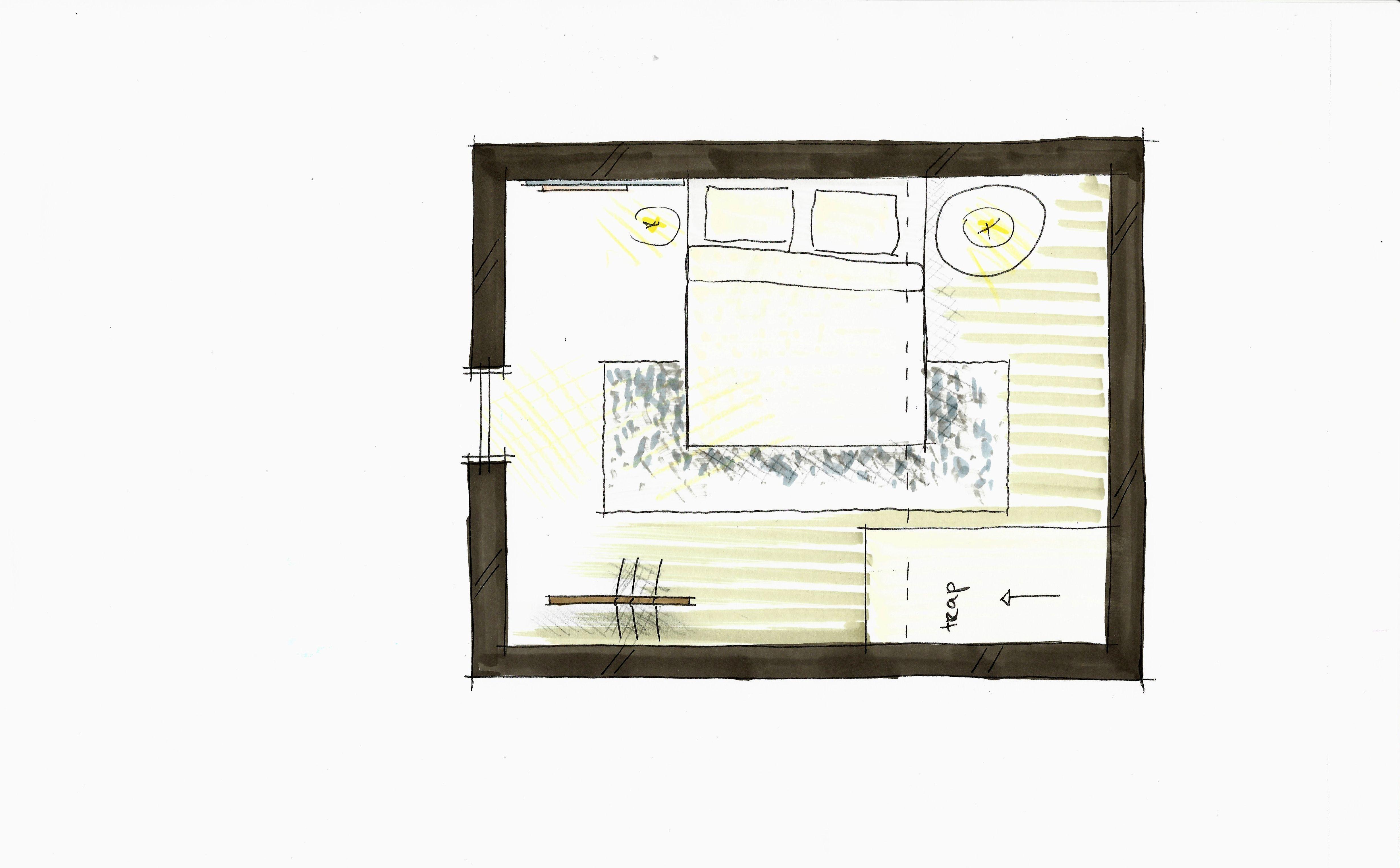 Plattegrond ontwerp romantischa slaapkamer– klein wonen in Amsterdam ...