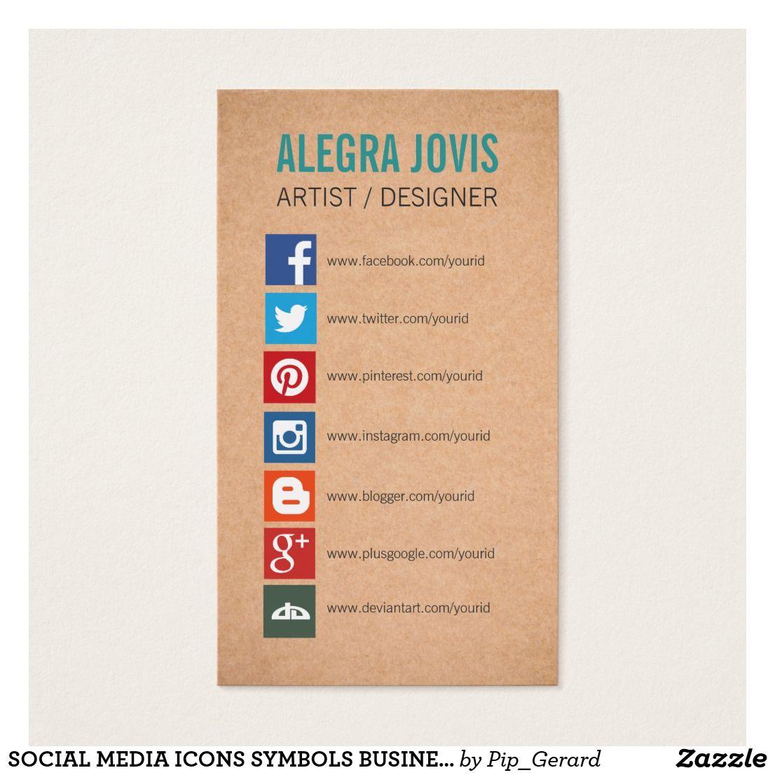 social media icons symbols business card  social media icons