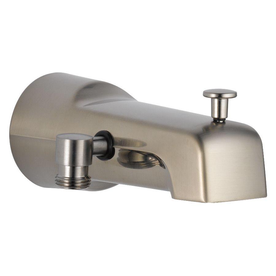 Delta Steel Stainless Bathtub Spout With Diverter Tub Spout Bathtub Spouts Hand Shower