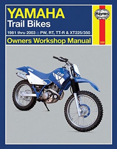 Yamaha Trail Bikes 1981 2003 Repair Manual Haynes Owners Workshop Manual By Haynes Cengage Learning Motocross Bikes Yamaha Trail Bike Yamaha