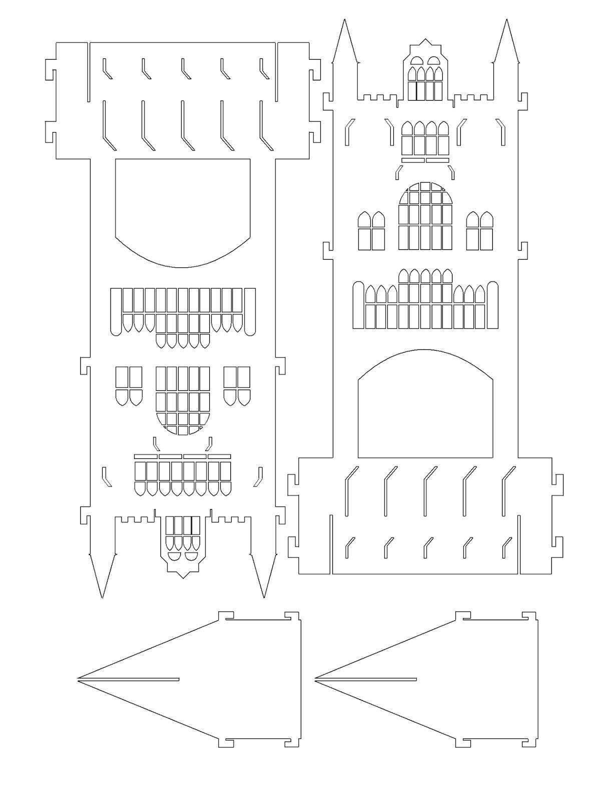 Рабочий, сделать замок из бумаги своими руками схемы шаблоны