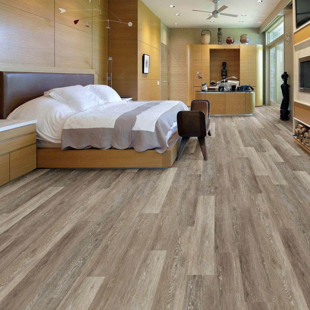 trafficmaster take home sample - khaki oak resilient vinyl plank