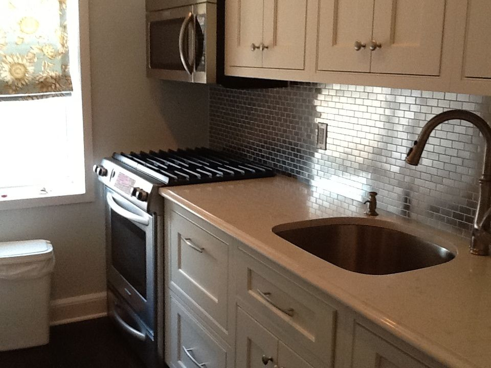 Go Stainless Steel With Your Backsplash  Subway Tile Outlet Brilliant Kitchen Sink Backsplash Decorating Inspiration