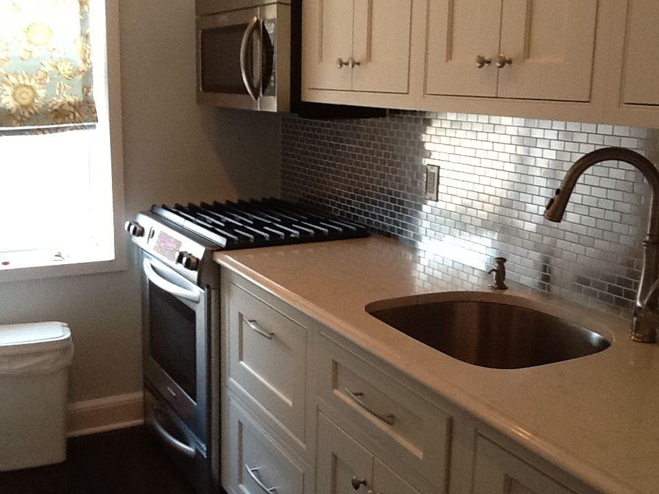 Go Stainless Steel With Your Backsplash  Subway Tile Outlet Brilliant Kitchen Sink Backsplash Decorating Inspiration
