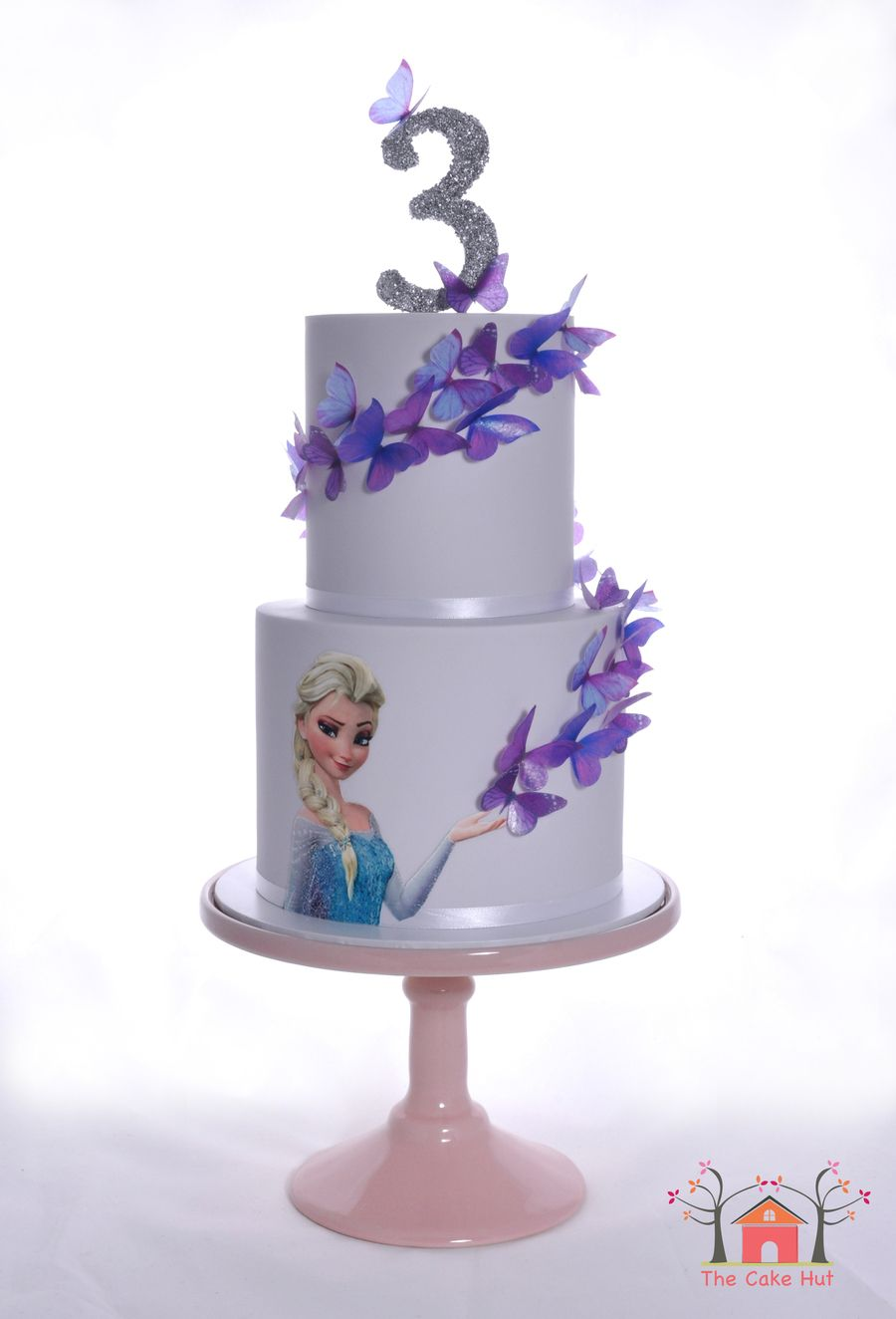 Frozen butterfly birthday cake i made this cake for my