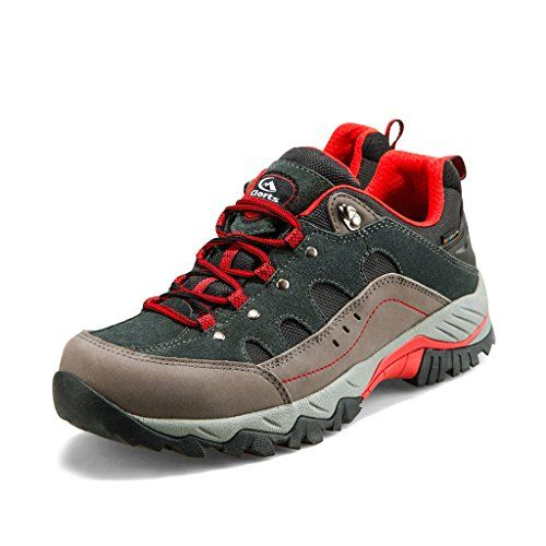 Clorts Mens Suede Hiker Waterproof Hiking Shoe Outdoor Backpacking Shoe Grey HKL815B US10 -- More info could be found at the image url.