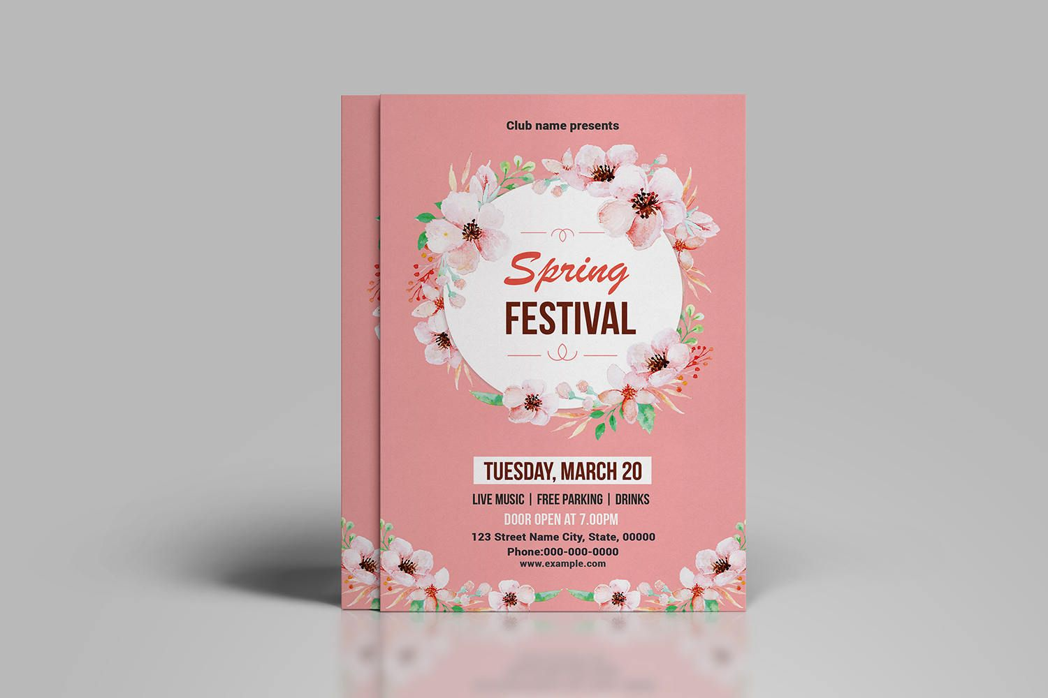 Spring Festival Flyer Template  Spring Party Flyer Spring Poster