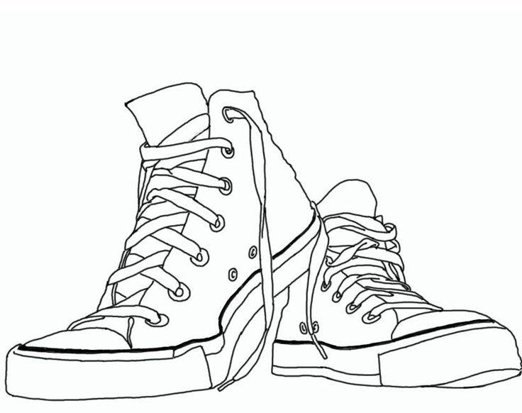 Chuck Taylor Sneaker Clipart 1 In 2019 Coloring Pages