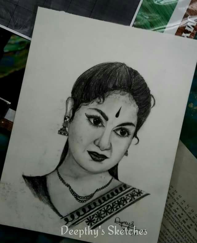 Pencil sketch savitri
