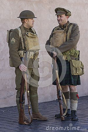 WWI British Army soldiers at rest Editorial Photography