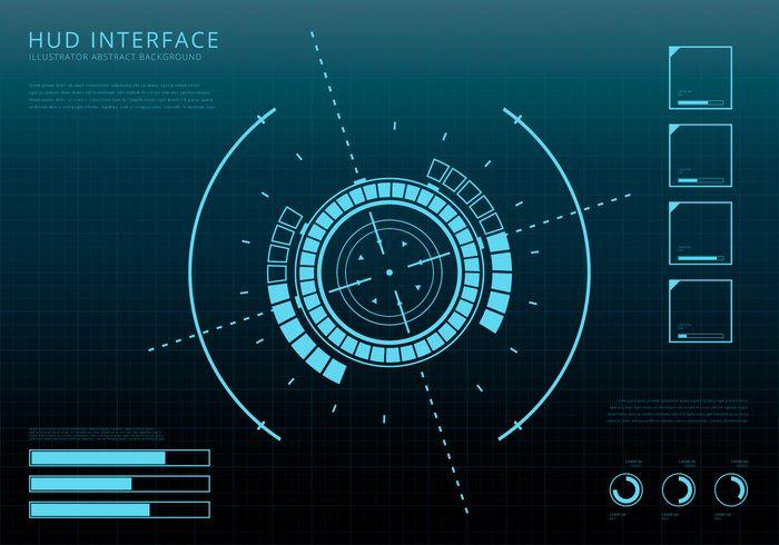 Hud Background And Element Background Set Futuristic Background Technology Design Graphic Vector Art Design
