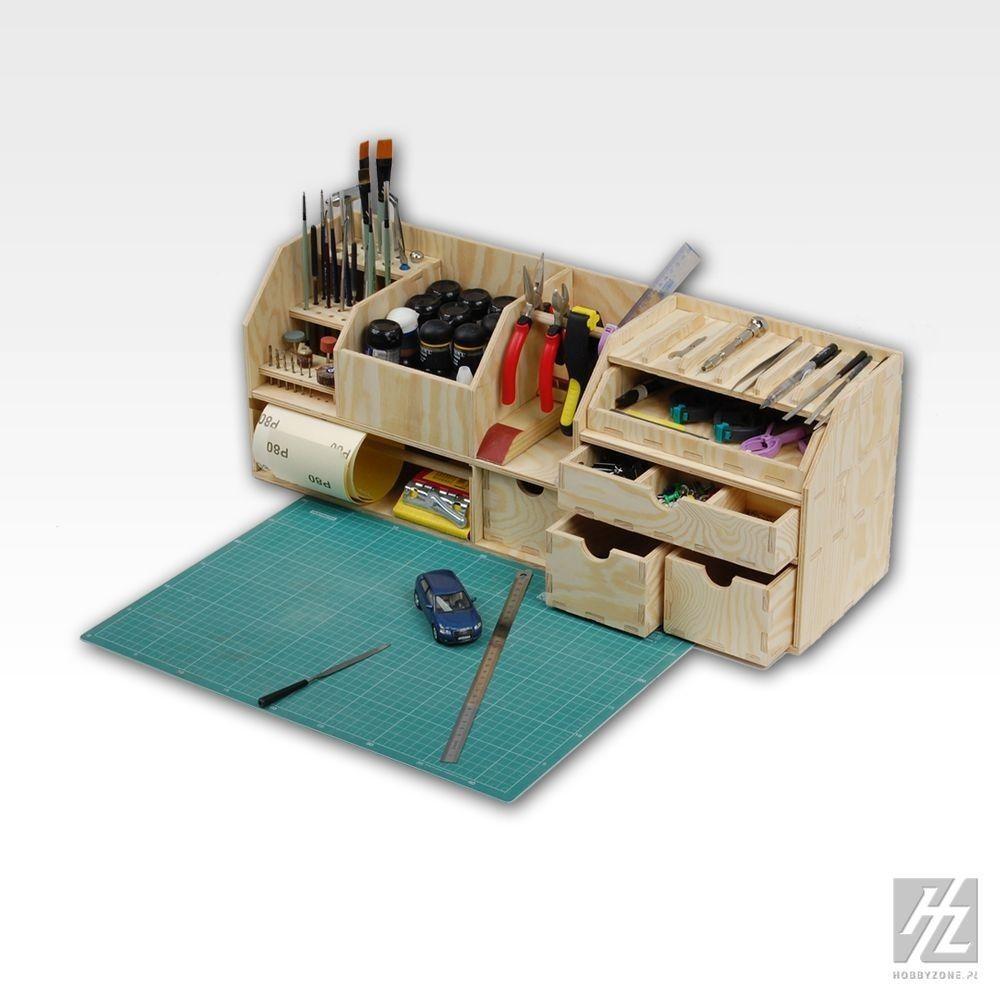 kleine tisch werkbank benchtop organizer workbench hobbyzone ordnung hobby ebay home. Black Bedroom Furniture Sets. Home Design Ideas