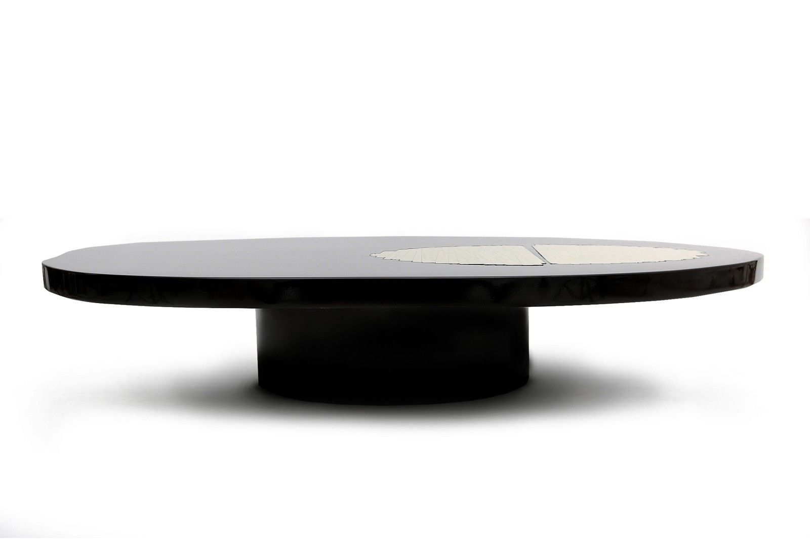 Black lacquer and brass highend coffee tablegoldwoodby
