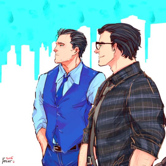 Pictures of Bruce Wayne And Clark Kent Comic - stargate-rasa info