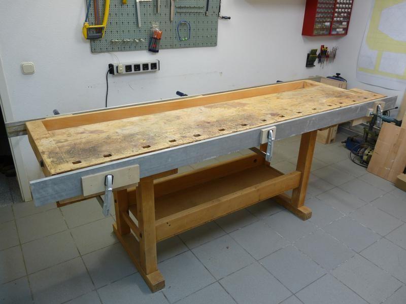 Alte Hobelbank aufgearbeitet *VIELE BILDER* | Tische | Pinterest ... | {Waschtisch selber bauen arbeitsplatte 94}
